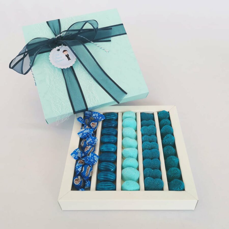 Caja de chuches azul