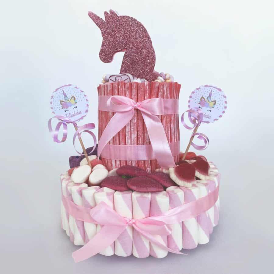Tarta bonita de unicornio